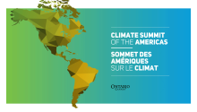 Sheena invited to attend the Climate Summit of the Americas