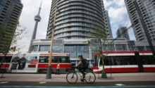 Queens Quay Re-opens with Beautiful Bike Lanes, Sidewalks and Trees