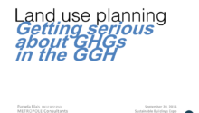 SBE16: Toronto – Pamela Blais – Land Use Planning: Getting Serious About GHG Reduction